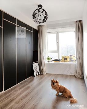 大气153平简约四居卧室装潢图四居及以上现代简约家装装修案例效果图