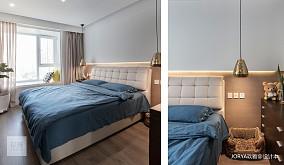 浪漫159平简约四居卧室实景图家装装修案例效果图