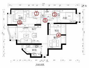 优美126平简约四居装潢图四居及以上现代简约家装装修案例效果图