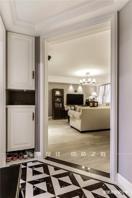 典雅95平美式二居玄关美图二居美式经典家装装修案例效果图