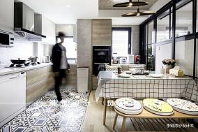 温馨90平北欧二居厨房实景图片