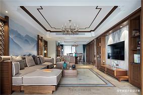 温馨300平中式四居客厅装饰图片