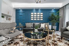 质朴115平美式四居客厅装饰美图