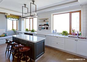 华丽125平美式四居餐厅装修图厨房美式经典设计图片赏析
