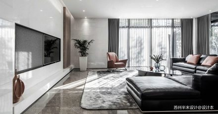精致800平现代四居客厅美图四居及以上现代简约家装装修案例效果图