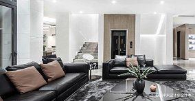 优美129平现代四居客厅装修效果图四居及以上现代简约家装装修案例效果图