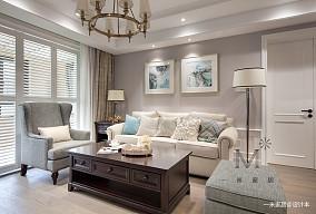 典雅64平美式二居客厅实景图二居美式经典家装装修案例效果图