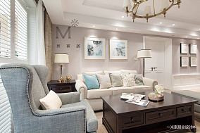 大气72平美式二居设计美图二居美式经典家装装修案例效果图