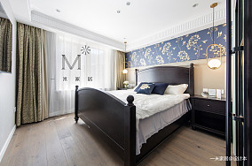 浪漫74平美式二居卧室实景图二居美式经典家装装修案例效果图