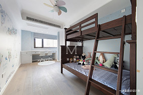 简洁87平美式二居儿童房布置图二居美式经典家装装修案例效果图