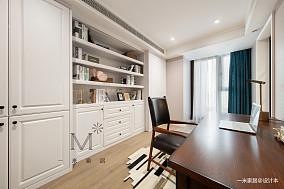 华丽72平美式二居书房装修效果图二居美式经典家装装修案例效果图