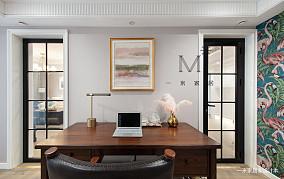 大气72平美式二居装修图二居美式经典家装装修案例效果图