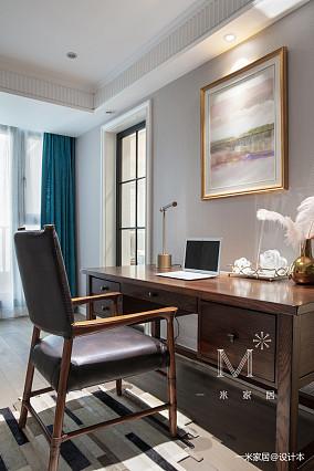轻奢63平美式二居书房装饰图二居美式经典家装装修案例效果图