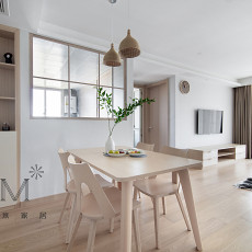 优美87平日式二居餐厅设计案例
