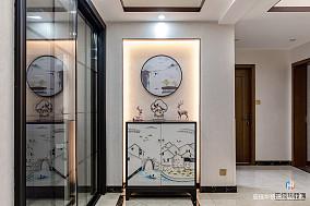 精致123平中式三居玄关装修美图