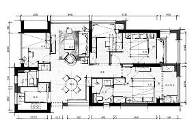 大气105平美式三居设计美图三居美式经典家装装修案例效果图