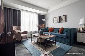 平美式三居客厅装饰图三居美式经典家装装修案例效果图