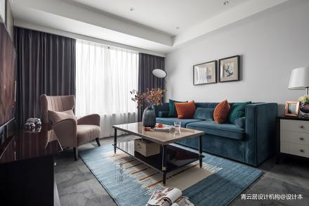 201990平美式三居客厅装饰图
