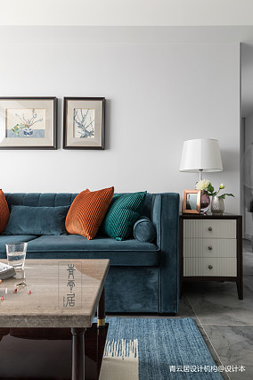 简洁90平美式三居客厅装修美图三居美式经典家装装修案例效果图