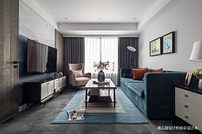 轻奢128平美式三居客厅装饰美图三居美式经典家装装修案例效果图