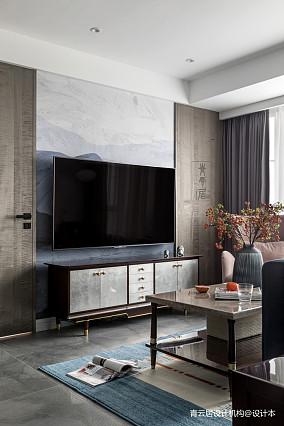 精美114平美式三居客厅装修图三居美式经典家装装修案例效果图