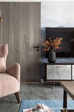 明亮76平美式三居客厅装饰图三居美式经典家装装修案例效果图