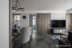 明亮96平美式三居客厅实拍图三居美式经典家装装修案例效果图