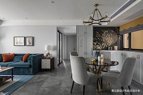 质朴72平美式三居餐厅装修图三居美式经典家装装修案例效果图