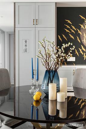 优雅80平美式三居餐厅图片欣赏三居美式经典家装装修案例效果图