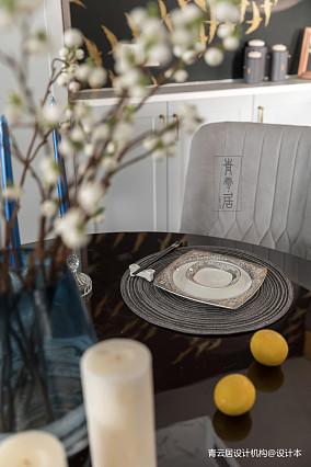 精美83平美式三居餐厅装修装饰图三居美式经典家装装修案例效果图