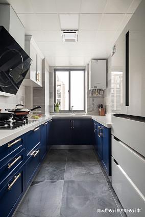 温馨96平美式三居厨房装修设计图三居美式经典家装装修案例效果图