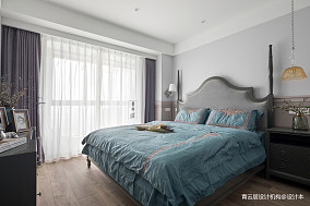 精美100平美式三居卧室效果图片大全三居美式经典家装装修案例效果图