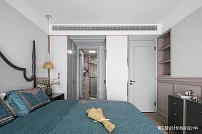 悠雅82平美式三居卧室设计图三居美式经典家装装修案例效果图