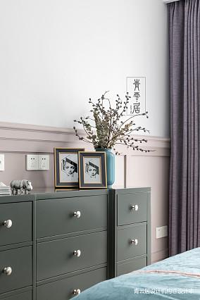 轻奢124平美式三居卧室设计效果图三居美式经典家装装修案例效果图
