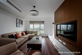 轻奢122平简约三居客厅装修效果图