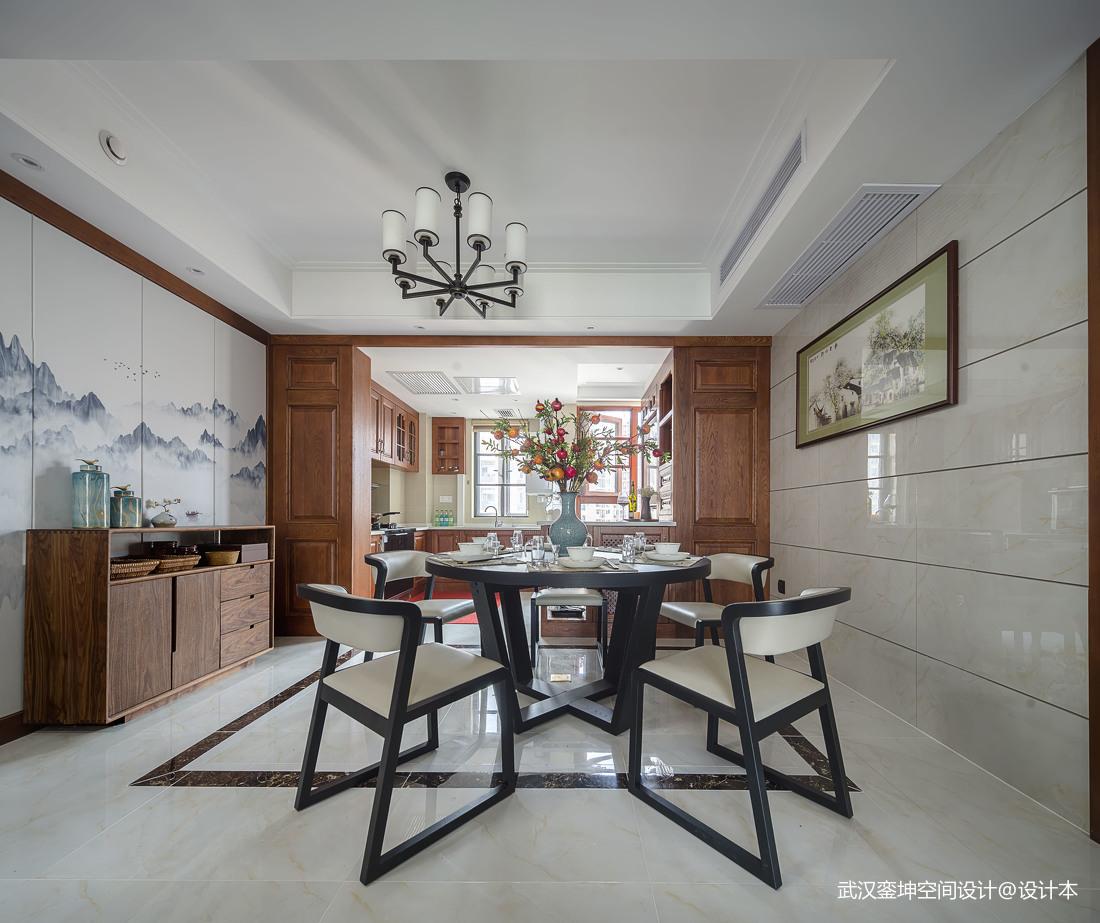 质朴84平中式三居餐厅装修美图厨房中式现代餐厅设计图片赏析
