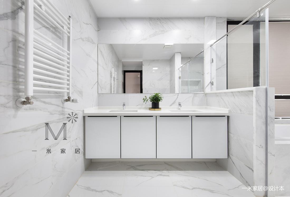 温馨111平北欧三居卫生间装修美图卫生间洗漱台北欧极简卫生间设计图片赏析