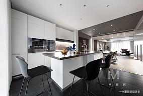 明亮102平北欧三居厨房效果图三居北欧极简家装装修案例效果图