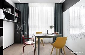 质朴97平北欧三居书房图片欣赏三居北欧极简家装装修案例效果图