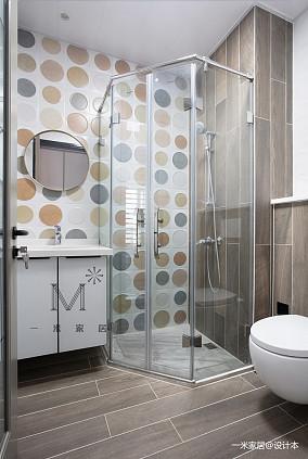 温馨119平北欧三居卫生间效果图片大全三居北欧极简家装装修案例效果图