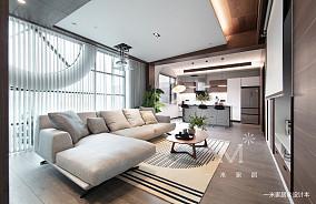 平现代二居客厅装修图二居现代简约家装装修案例效果图