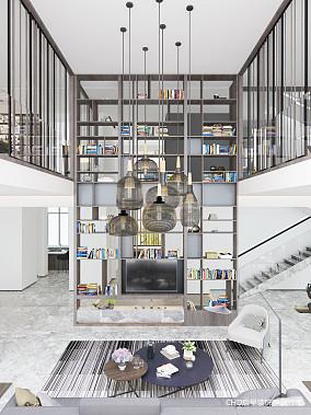 简约豪宅客厅储物柜设计