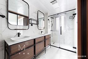 温馨94平现代三居设计案例三居现代简约家装装修案例效果图