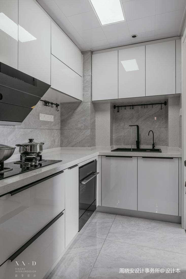 精致77平现代二居厨房装修装饰图餐厅现代简约厨房设计图片赏析