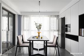 悠雅107平现代四居餐厅实景图片