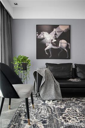 明亮137平现代四居客厅布置图
