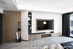 130m² 现代背景墙设计