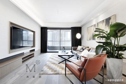 大气130平现代三居客厅装潢图三居现代简约家装装修案例效果图