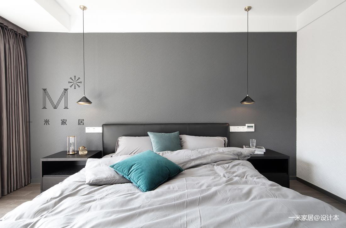 轻奢85平现代三居卧室效果图片大全卧室床现代简约卧室设计图片赏析