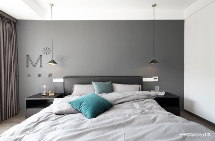轻奢85平现代三居卧室效果图片大全